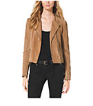 Leather Quilted Moto Jacket