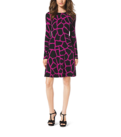 Giraffe-Print Sweater Dress