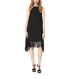 Chain-Halter Fringe Dress