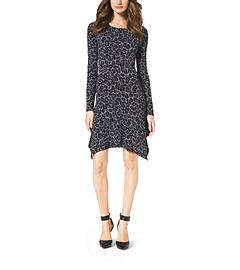 Cheetah-Print Jersey Dress