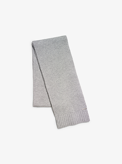 Ribbed Cashmere Scarf by Michael Kors