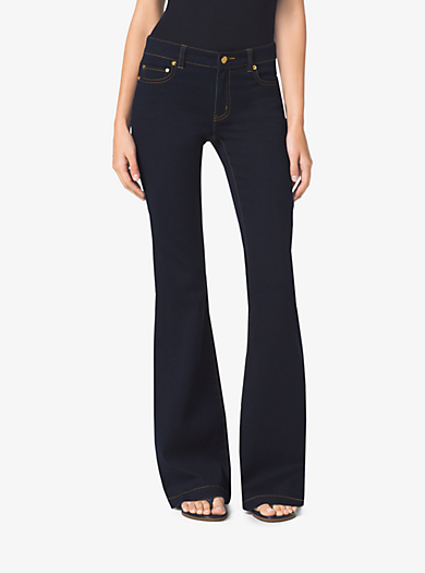 Stretch Flared Jeans  by Michael Kors
