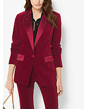 Blazer de smoking en velours