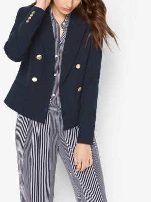 Double-Breasted Twill Blazer by Michael Kors