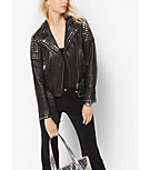 Studded Leather Moto Jacket