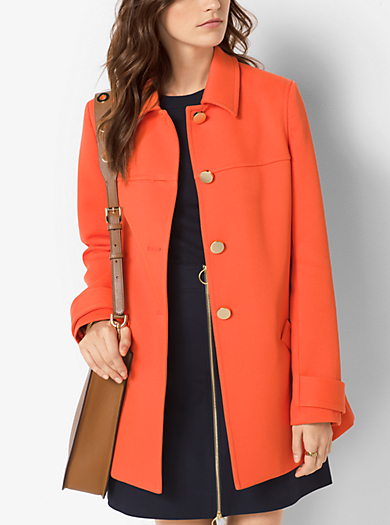 Cappotto Swing in twill accoppiato by Michael Kors