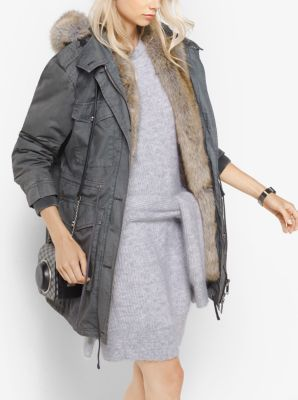 Faux-Fur Lined Twill Parka by Michael Kors
