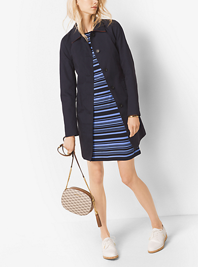 Double-Face Cotton Trench Coat by Michael Kors