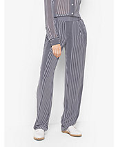 Striped Georgette Trousers