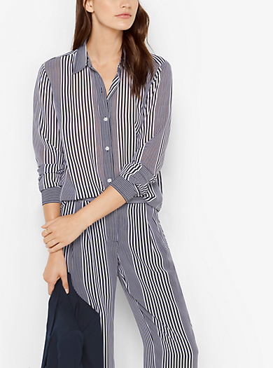 Blusa in georgette a righe by Michael Kors