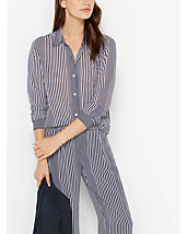 Striped Georgette Blouse