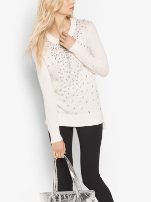 Embellished Wool-Blend Sweater by Michael Kors