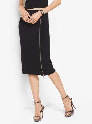 Zip Pencil Skirt by Michael Kors