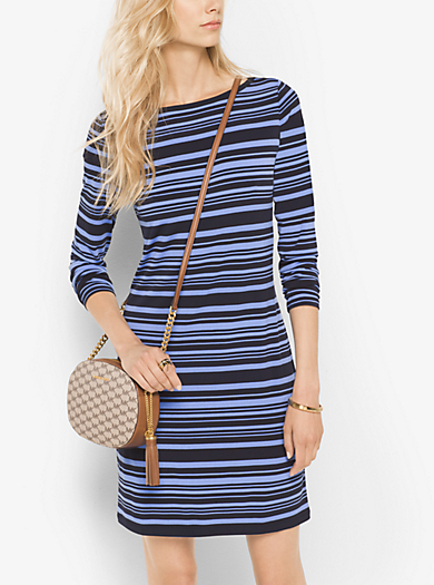 Abito a righe in jersey opaco by Michael Kors