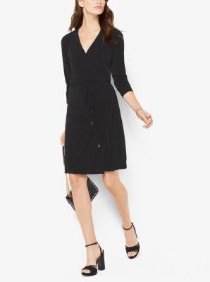 Matte-Jersey Wrap Dress by Michael Kors