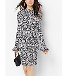 Floral-Print Bell-Sleeve Dress