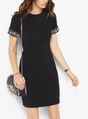 Embellished Short-Sleeved Dress by Michael Kors