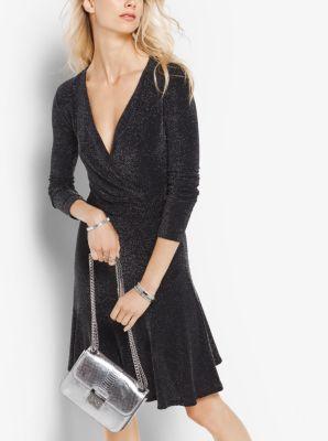 Metallic Wrap Dress by Michael Kors