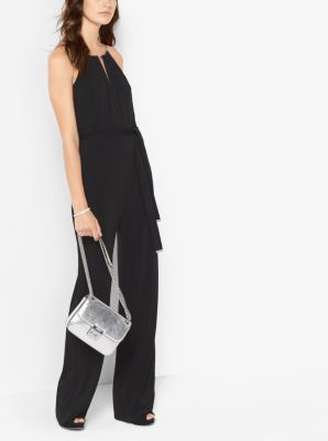 Belted Chain-Trim Jumpsuit by Michael Kors