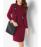 Tie-Back Wool-Blend Dress