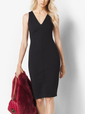 Knitted V-Neck Dress by Michael Kors