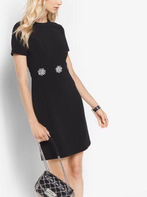 Brooch-Embellished Dress