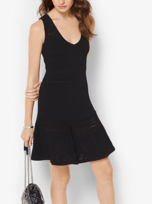 Knitted Fit-and-Flare Dress by Michael Kors
