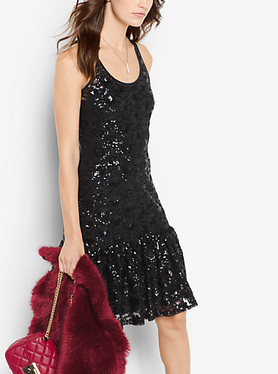 Sequined Lace Dress by Michael Kors