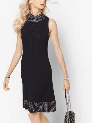 Embellished Ribbed Dress by Michael Kors