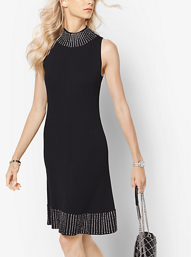 Embellished Ribbed Dress by Michael Kors