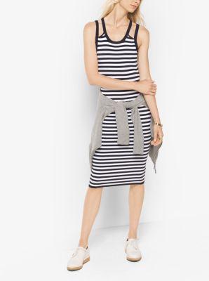 Striped Viscose/Nylon Tank Dress by Michael Kors