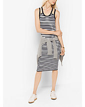 Striped Viscose/Nylon Tank Dress