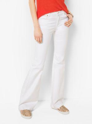 마이클 마이클 코어스 셀마 바지 화이트 Michael Michael Kors Selma Flared Jeans,WHITE