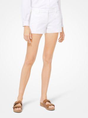 마이클 마이클 코어스 반바지 화이트 Michael Michael Kors Stretch-Cotton Shorts,WHITE