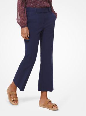 마이클 마이클 코어스 크롭 팬츠 Michael Michael Kors Stretch Cotton-Twill Cropped Pants,TRUE NAVY