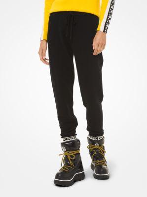 마이클 마이클 코어스 조거 팬츠 Michael Michael Kors Logo-Trim Nylon-Blend Joggers,BLACK