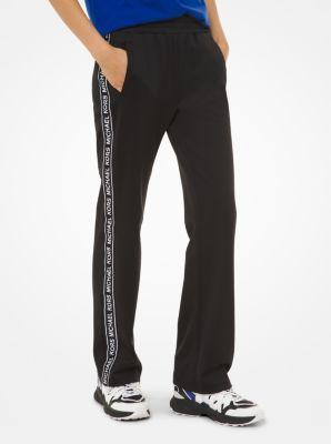 마이클 마이클 코어스 트랙 팬츠 Michael Michael Kors Logo Tape Ponte Track Pants,BLACK