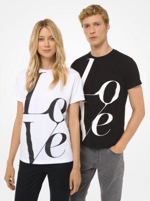 마이클 마이클 코어스 LOVE 레터링 티셔츠 - 3 컬러 (기은세, 이사배 착용) Michael Michael Kors Watch Hunger Stop LOVE T-Shirt