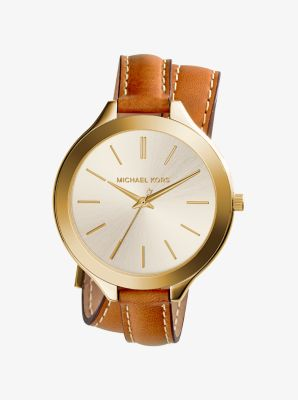 Slim Runway Double-Wrap Watch by Michael Kors