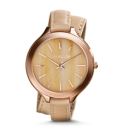 Slim Runway Horn Acetate Double-Wrap Watch