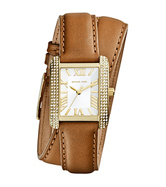 Mini Emery Double-Wrap Leather Watch