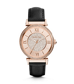 Catlin Pavé-Embellished Rose Gold-Tone Stainless Steel Watch
