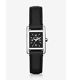 Taylor Silver-Tone and Leather Watch by Michael Kors