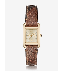Taylor Gold-Tone and Python Watch by Michael Kors