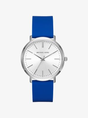 Jaryn Silver-Tone and Silicone Watch by Michael Kors