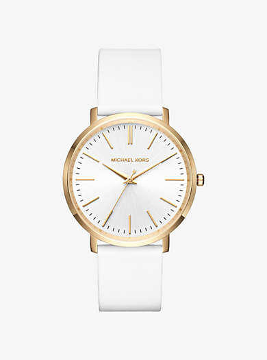 Jaryn Gold-Tone and Silicone Watch by Michael Kors