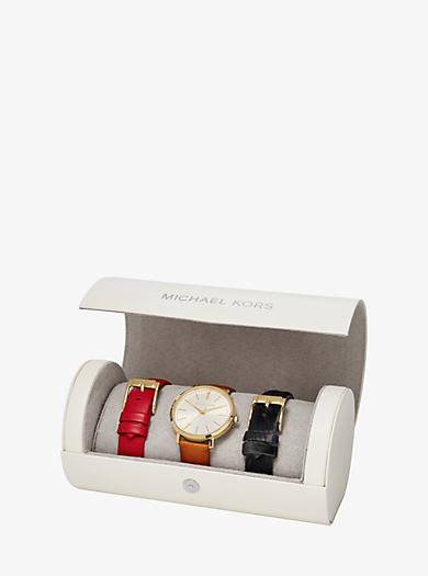 Jaryn Gold-Tone Watch Set by Michael Kors