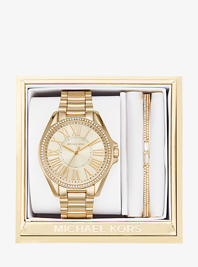 Kacie Gold-Tone Gift Set by Michael Kors