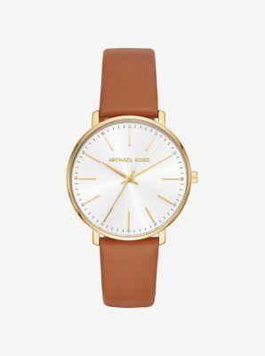 마이클 코어스 가죽 시계  Michael Kors Pyper Gold-Tone Leather Watch,GOLD