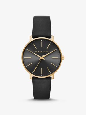 마이클 코어스 가죽 시계 Michael Kors Pyper Gold-Tone and Leather Watch,GOLD